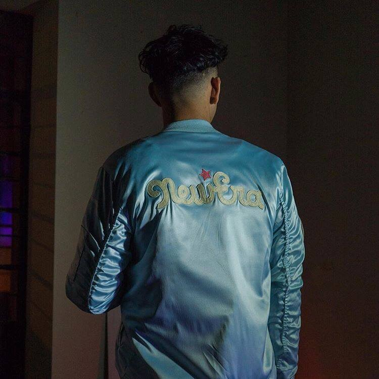 """ Satin Bomber Jacket - Sad Boys """