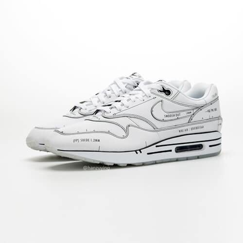 NIKE: AIR MAX 1 SCHEMATIC SKETCH TO SHELF [WHITE] – Social